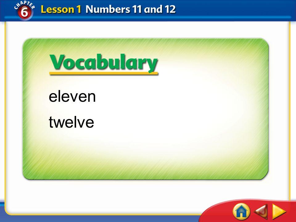 Lesson 1Get Ready 1 eleven twelve