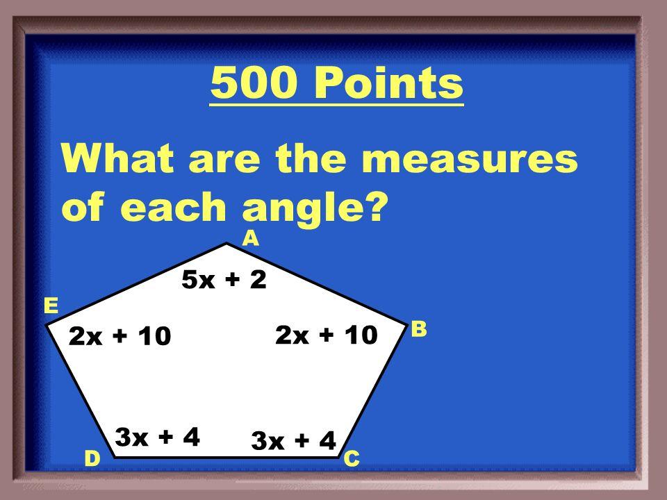 400 Points X = 132 0