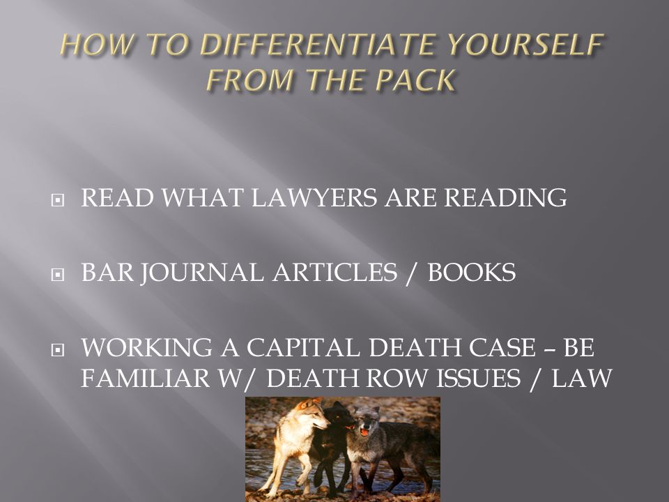 READ WHAT LAWYERS ARE READING BAR JOURNAL ARTICLES / BOOKS WORKING A CAPITAL DEATH CASE – BE FAMILIAR W/ DEATH ROW ISSUES / LAW