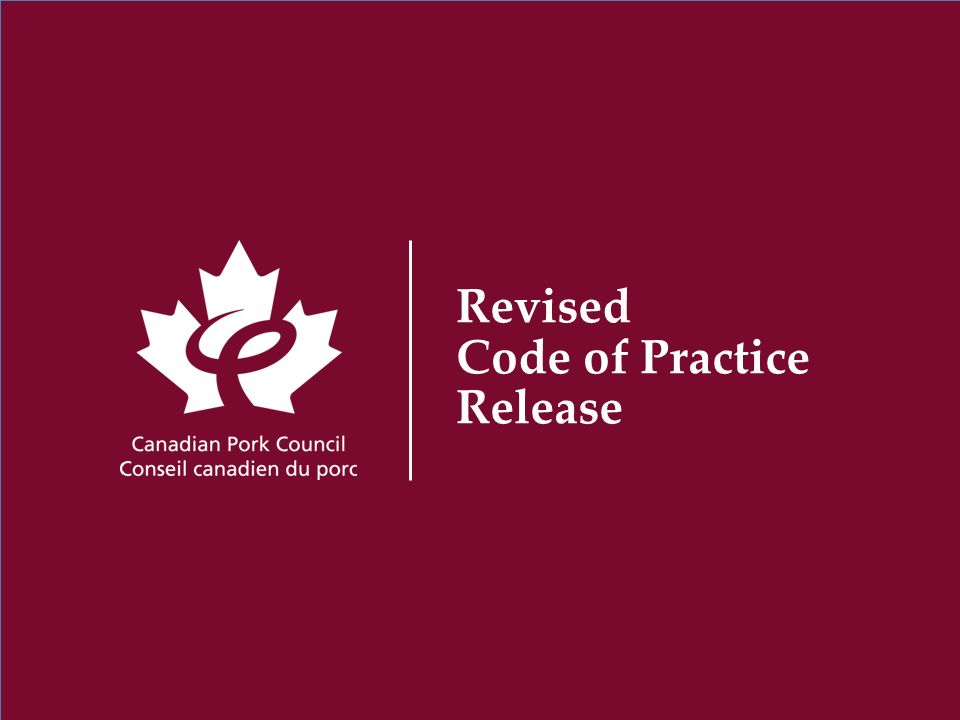 Revised Code of Practice Release