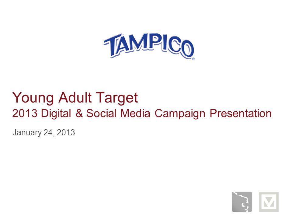 Young Adult Target 2013 Digital & Social Media Campaign Presentation January 24, 2013
