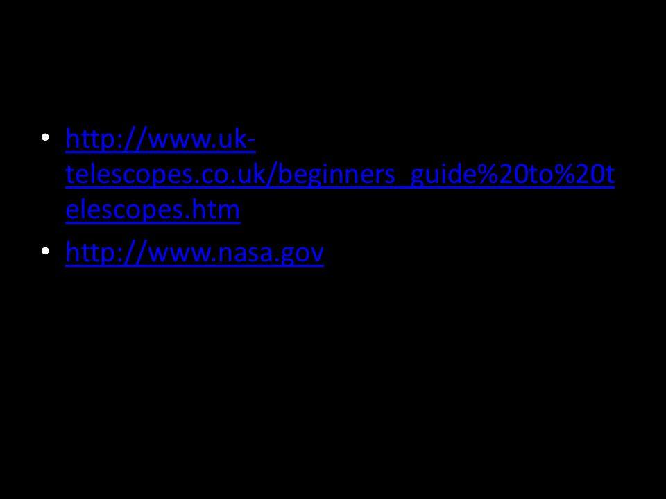http://www.uk- telescopes.co.uk/beginners_guide%20to%20t elescopes.htm http://www.uk- telescopes.co.uk/beginners_guide%20to%20t elescopes.htm http://w