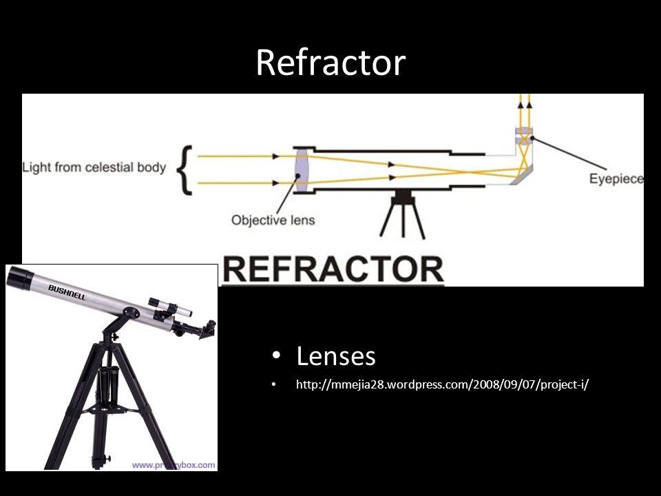 Refractor Lenses http://mmejia28.wordpress.com/2008/09/07/project-i/