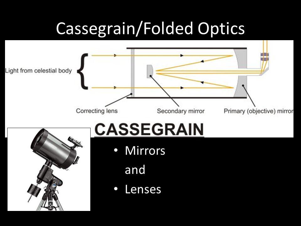 Cassegrain/Folded Optics Mirrors and Lenses