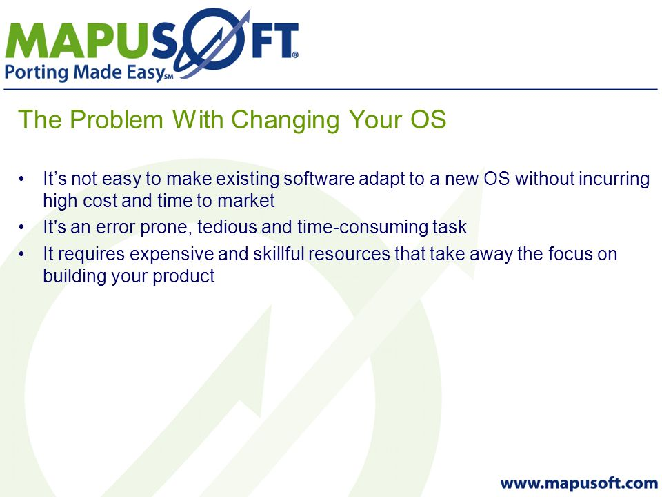 Why Use a Standardized OS Interface Architecture.