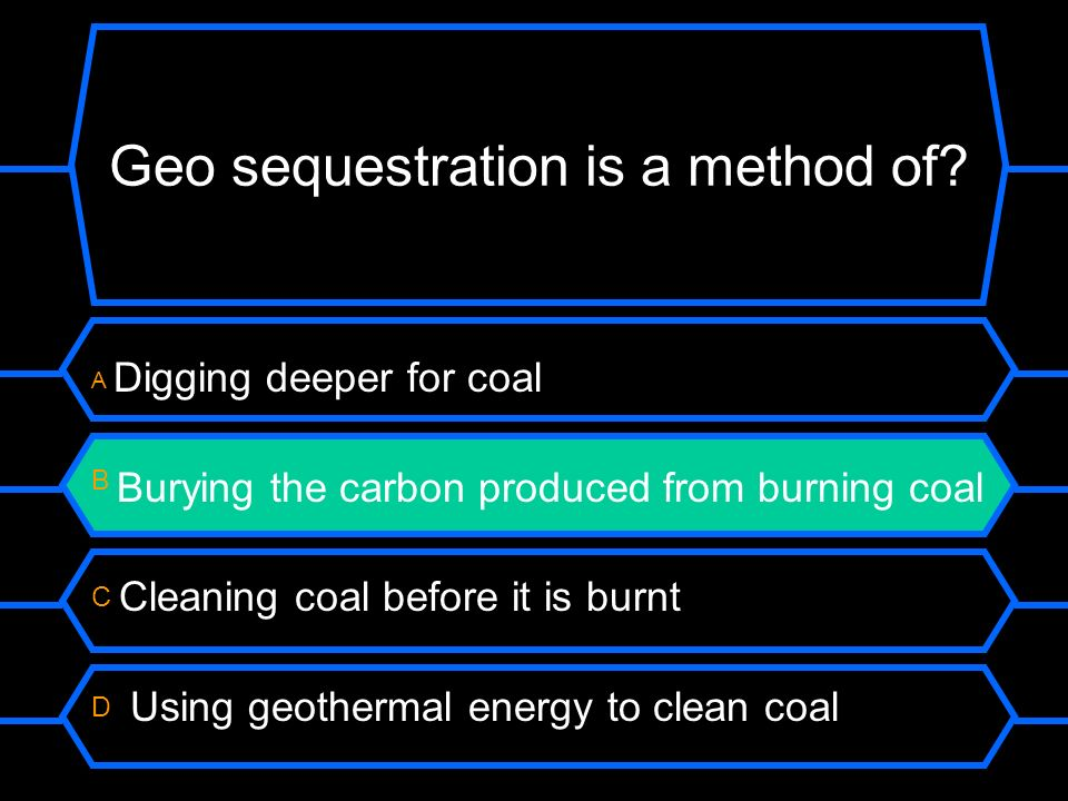 Geo sequestration is a method of.