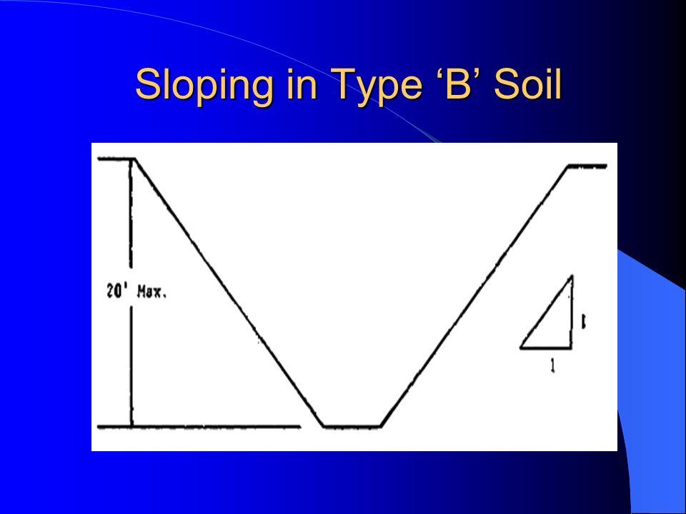 Sloping in Type B Soil