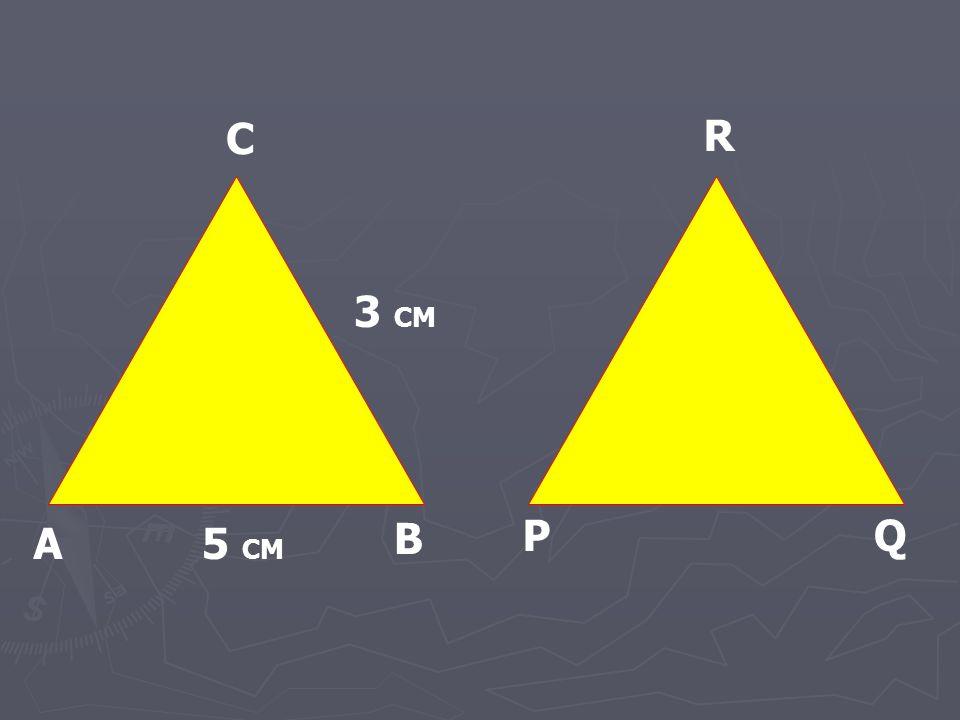 A B C P R Q 3 CM