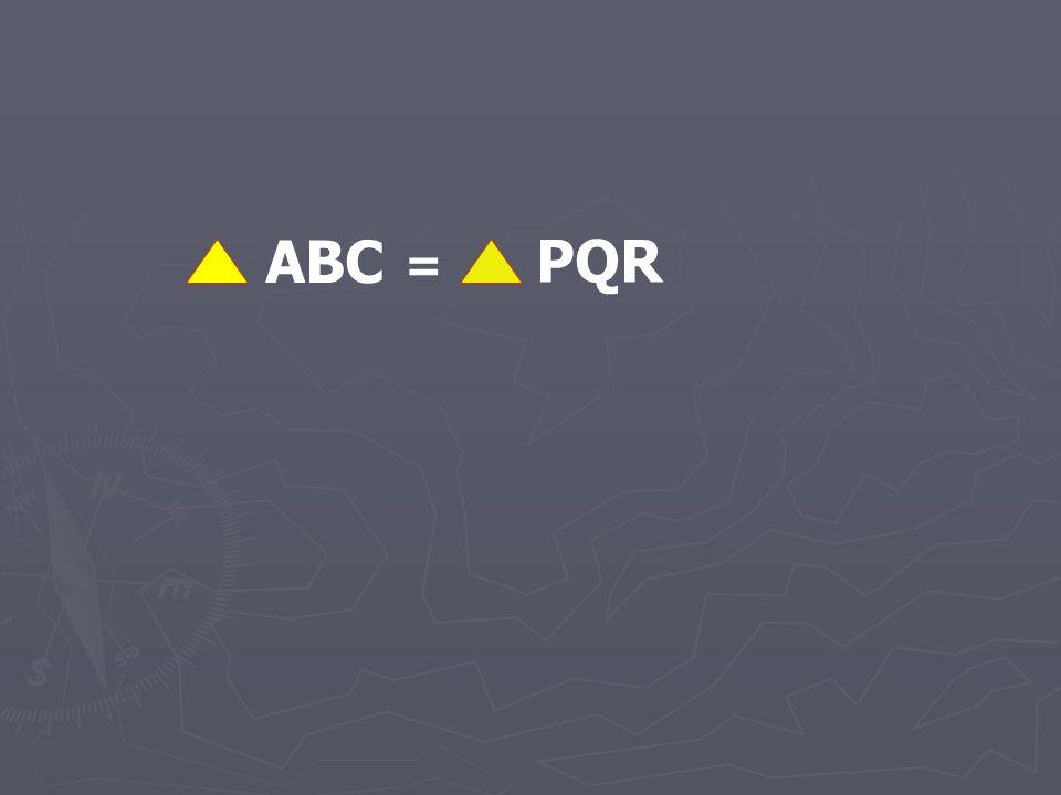 ABC PQR =