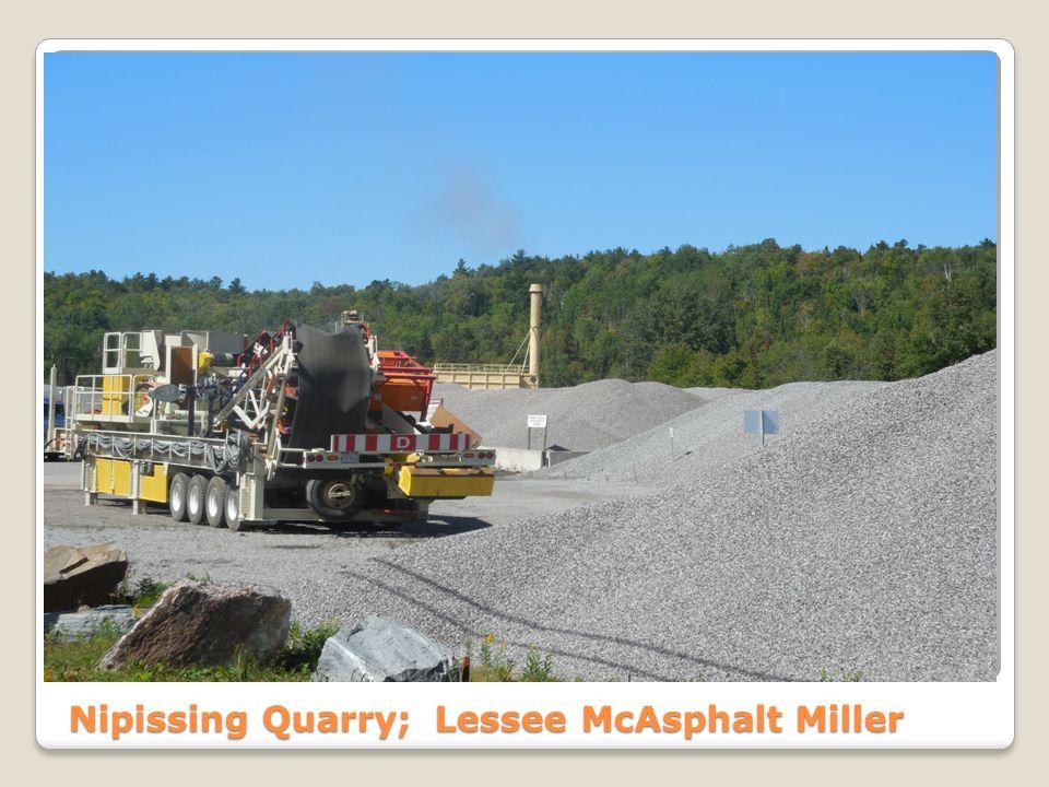 Nipissing Quarry; Lessee McAsphalt Miller