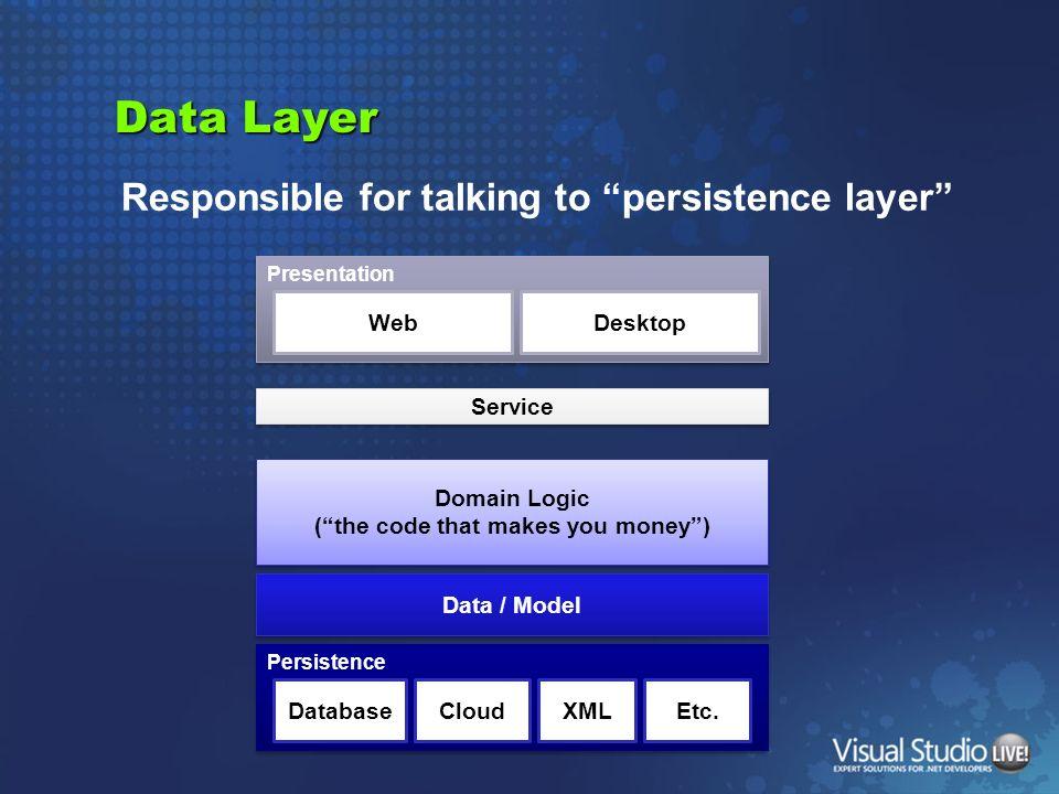 DEMO Build data layer with LinqToSql & EF & OpenAccess