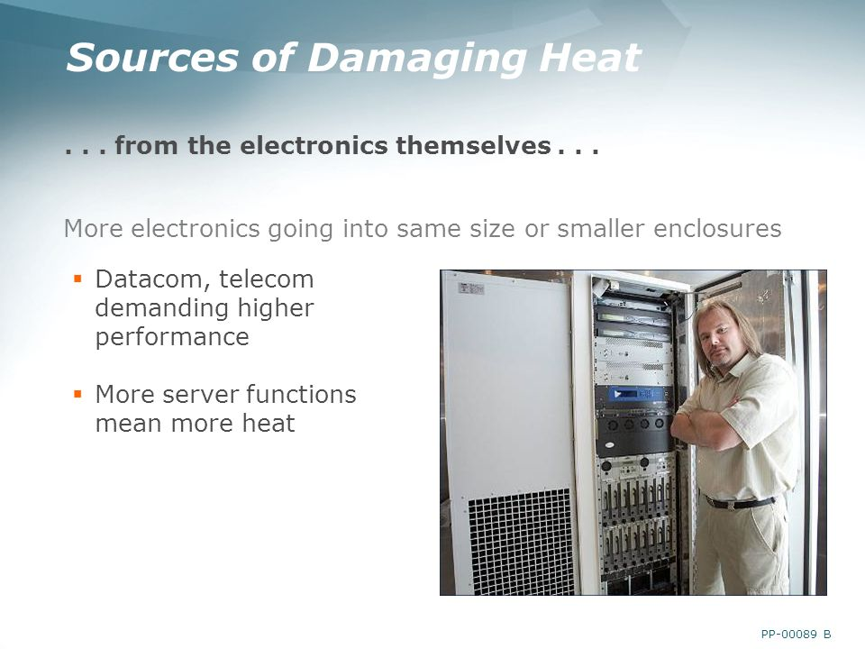 PP B Sources of Damaging Heat... from the electronics themselves...