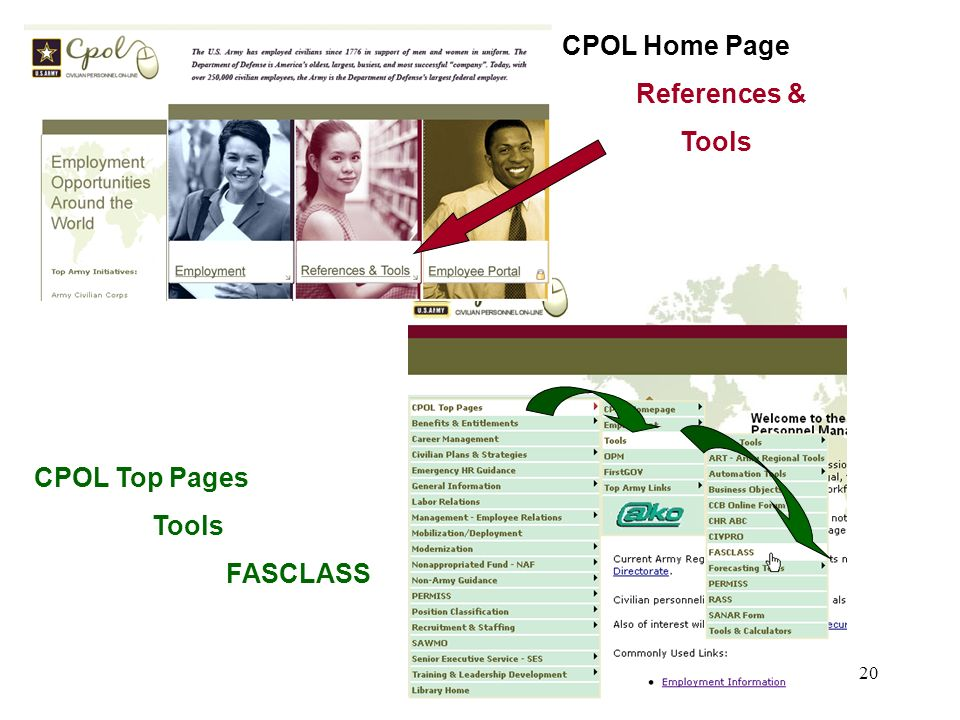 20 CPOL Home Page References & Tools CPOL Top Pages Tools FASCLASS