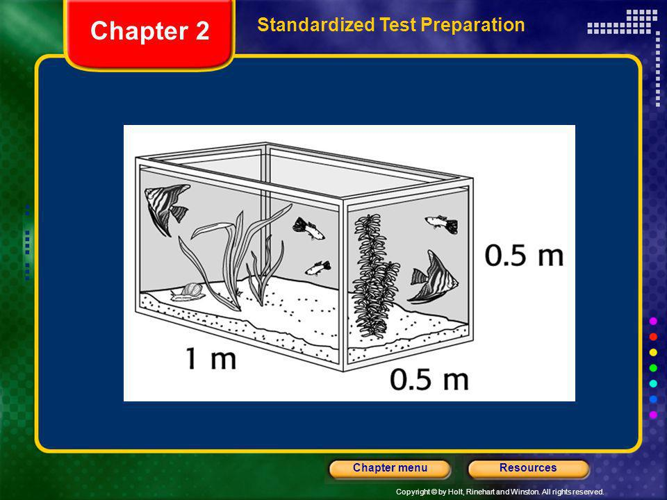 Copyright © by Holt, Rinehart and Winston. All rights reserved. ResourcesChapter menu Chapter 2 Standardized Test Preparation