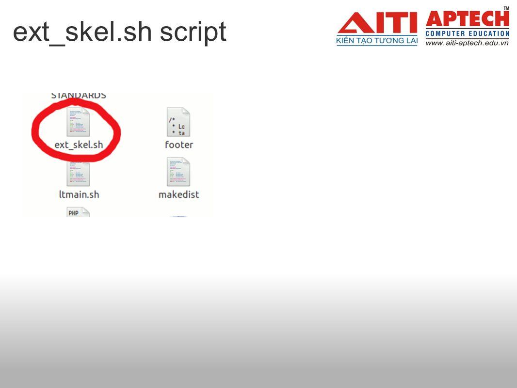 ext_skel.sh script