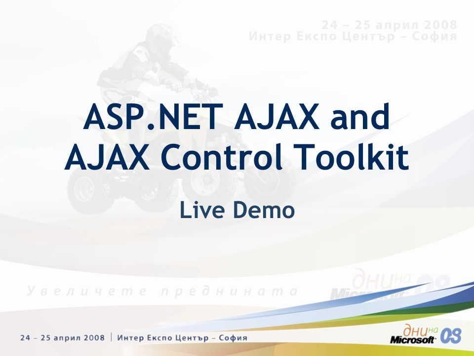 Live Demo ASP.NET AJAX and AJAX Control Toolkit