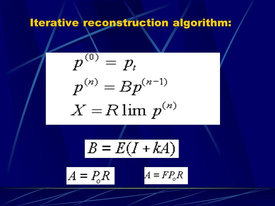 Iterative reconstruction algorithm: