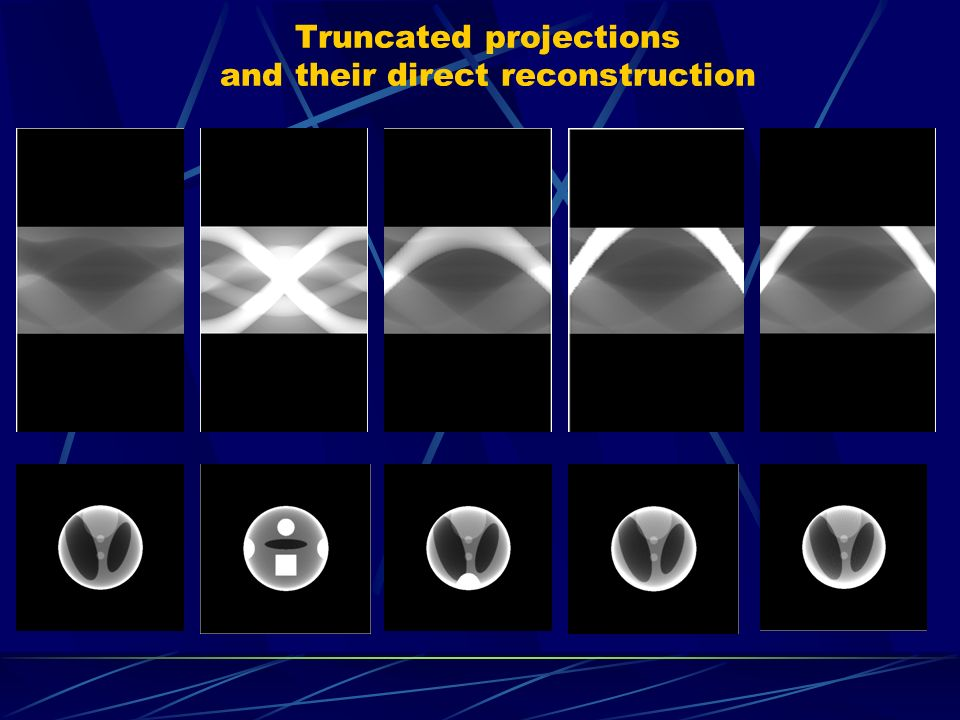 Truncated projections and their direct reconstruction