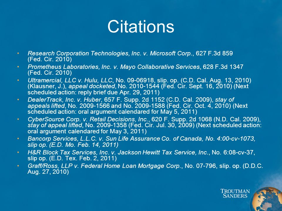 Citations Research Corporation Technologies, Inc.v.