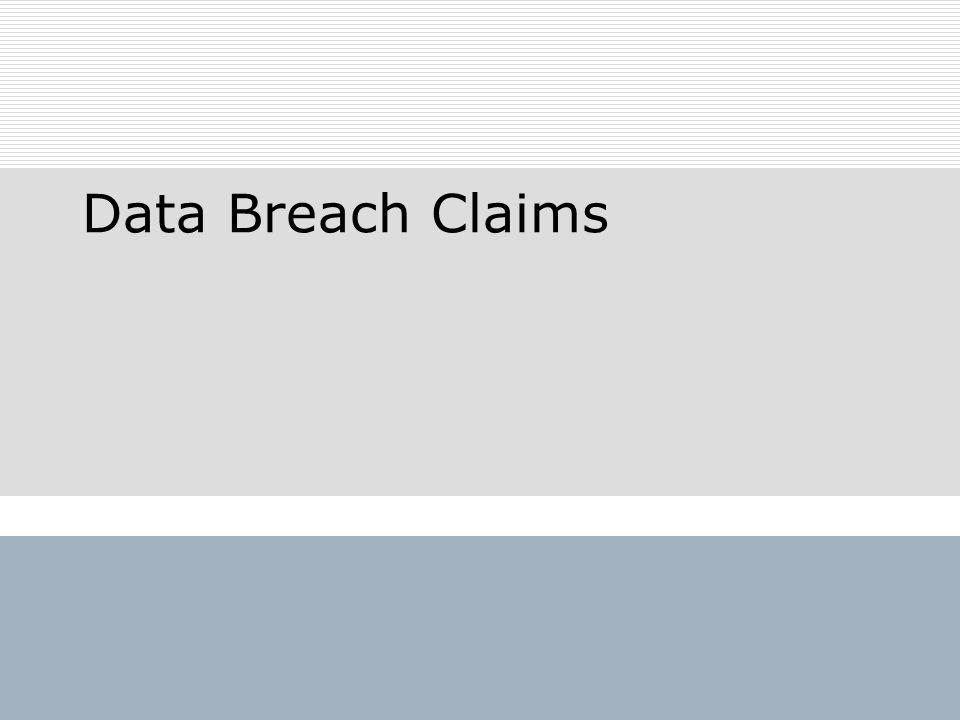 Data Breach Claims