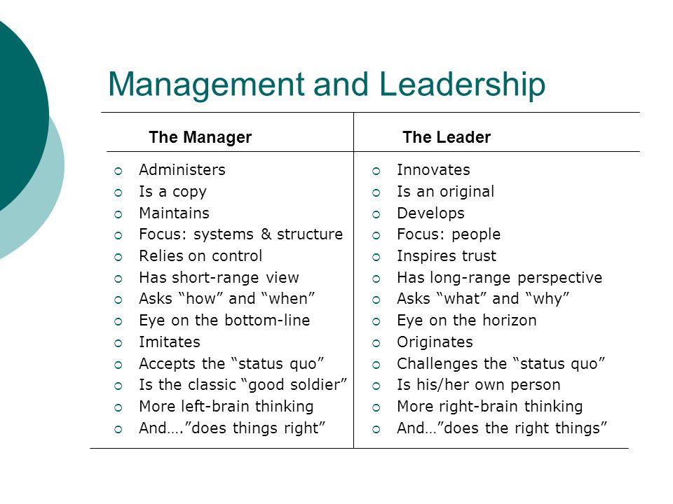 Steven Covey – 7 Habits (Parable of Management vs.