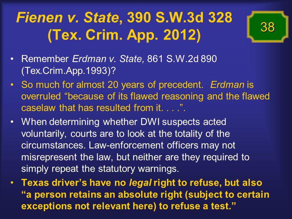 Fienen v. State, 390 S.W.3d 328 (Tex. Crim. App.