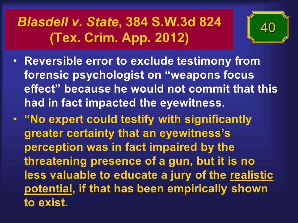 Blasdell v. State, 384 S.W.3d 824 (Tex. Crim. App.