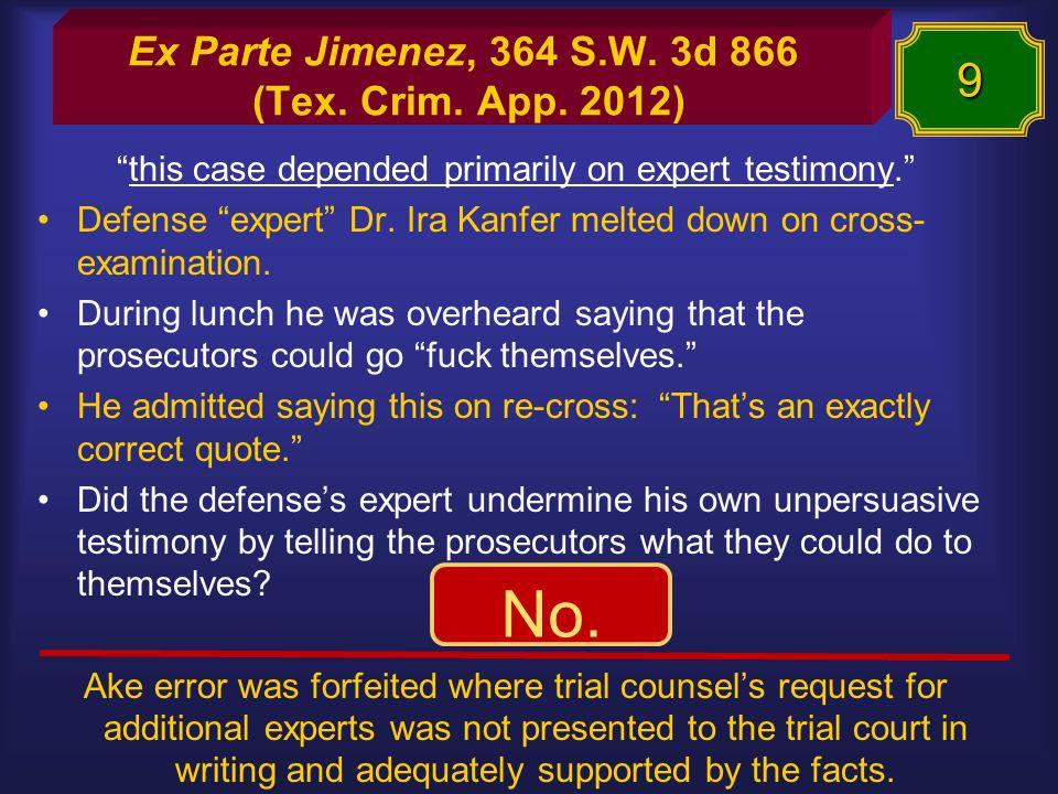 Ex Parte Jimenez, 364 S.W. 3d 866 (Tex. Crim. App.