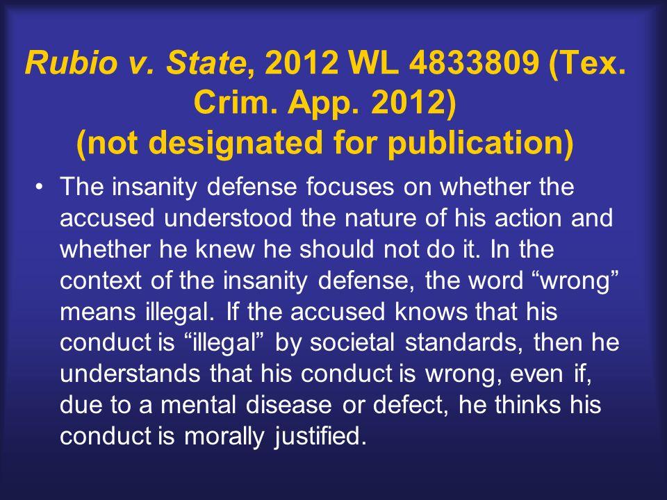 Rubio v. State, 2012 WL 4833809 (Tex. Crim. App.
