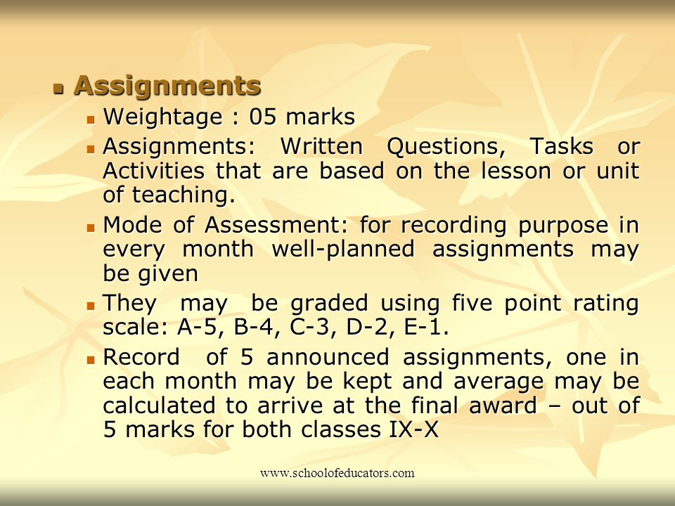 Contd… Formative and Summative Testing Formative and Summative Testing In class IX on the basis of announced unit tests In class IX on the basis of an