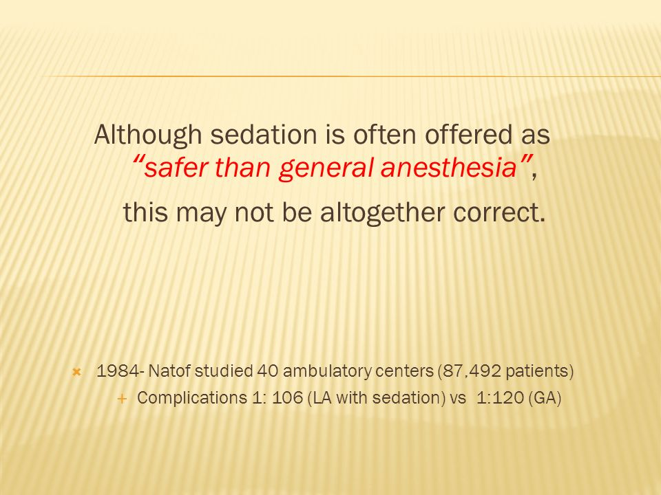 Patients must be monitored during moderate sedation.