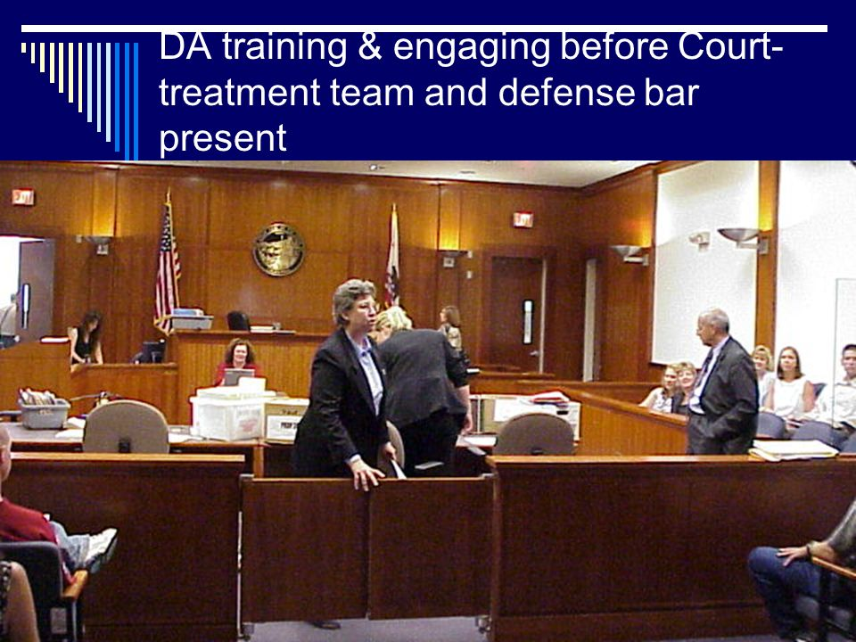 Public Defender teaching in the hallways of the courthouse before court