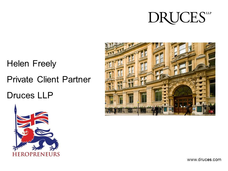 Helen Freely Private Client Partner Druces LLP www.druces.com