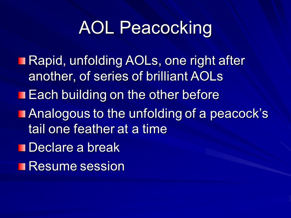 AOL Peacocking