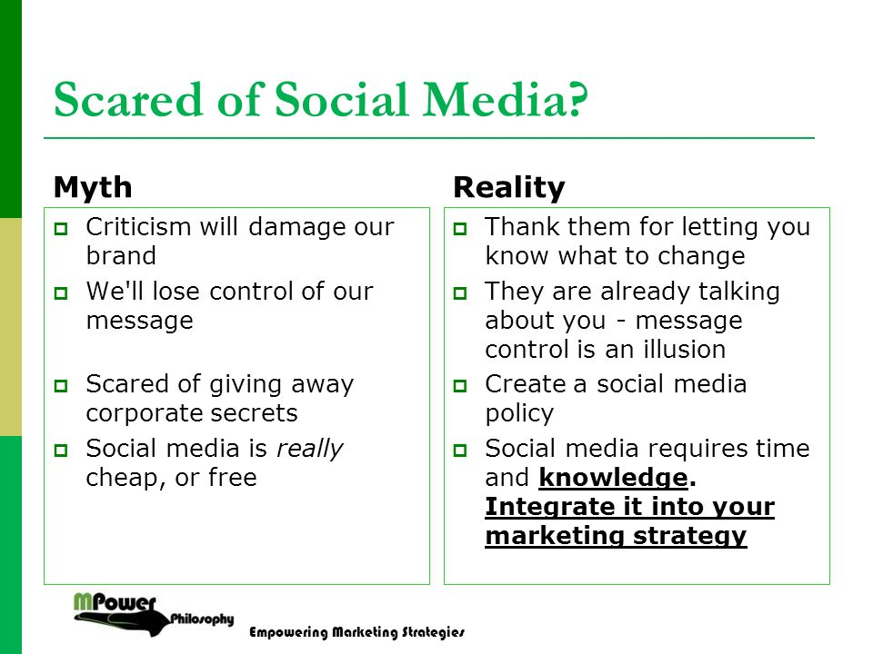 Empowering Marketing Strategies Scared of Social Media.