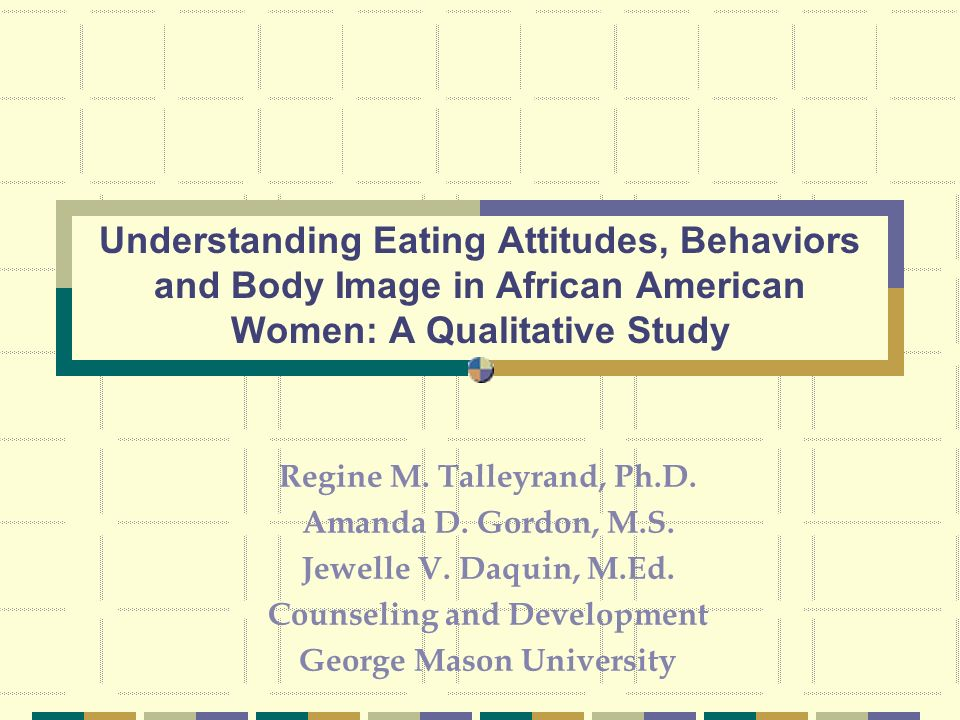 Regine M. Talleyrand, Ph.D. Amanda D. Gordon, M.S.