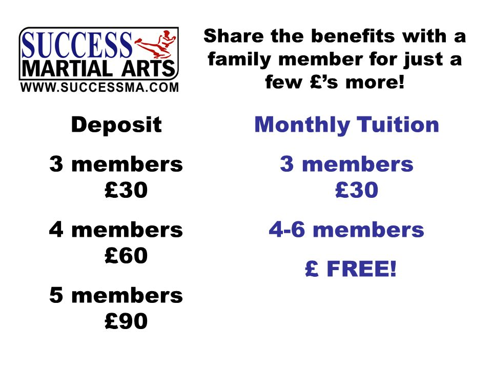 Share the benefits with a family member for just a few £s more.