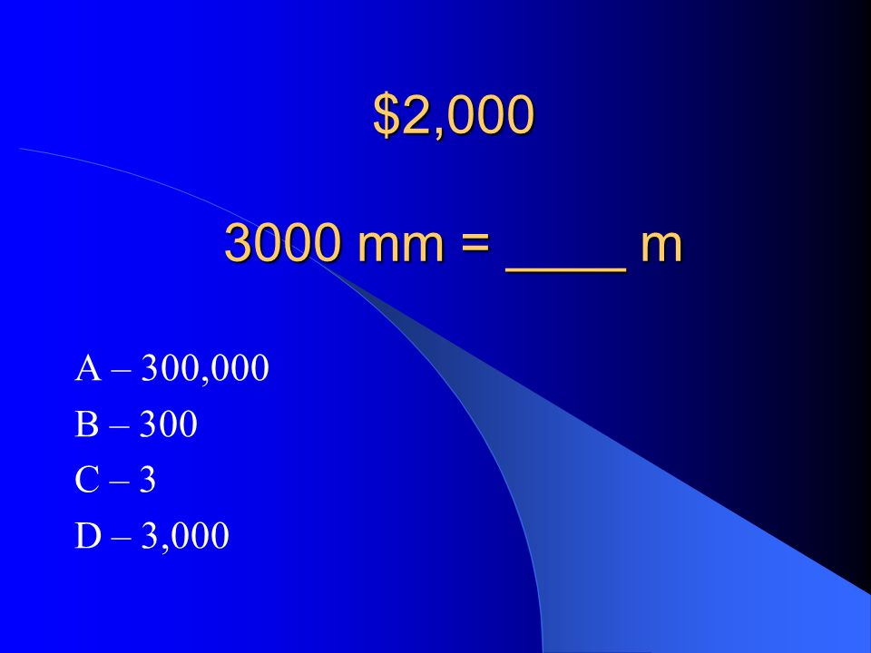 A – possible explanation to a scientific question. NOW LETS TRY THE $2,000 QUESTION!