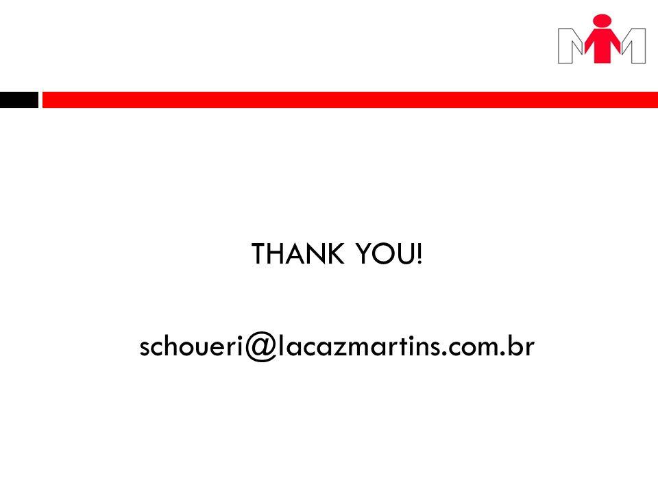 THANK YOU! schoueri@lacazmartins.com.br