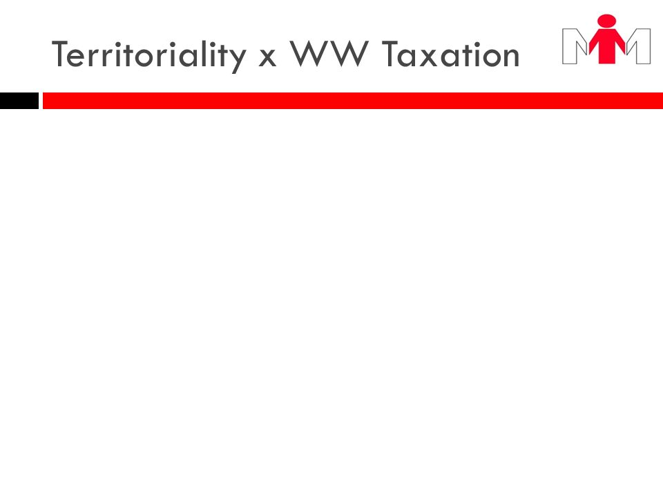 Territoriality x WW Taxation CEN: foreign tax credit system CIN: exemption