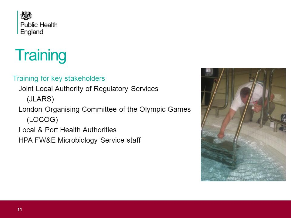 Training Training for key stakeholders Joint Local Authority of Regulatory Services (JLARS) London Organising Committee of the Olympic Games (LOCOG) L