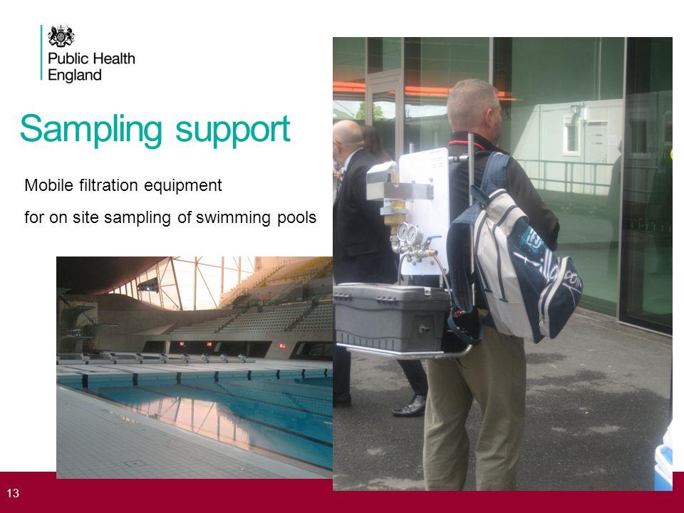 Sampling support Mobile filtration equipment for on site sampling of swimming pools 13