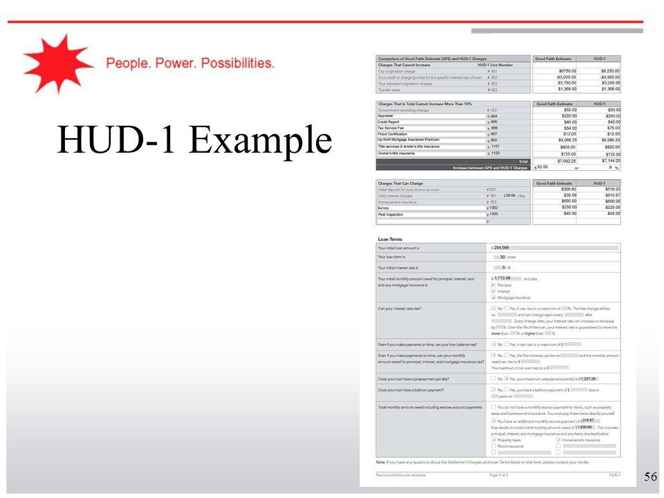 56 HUD-1 Example