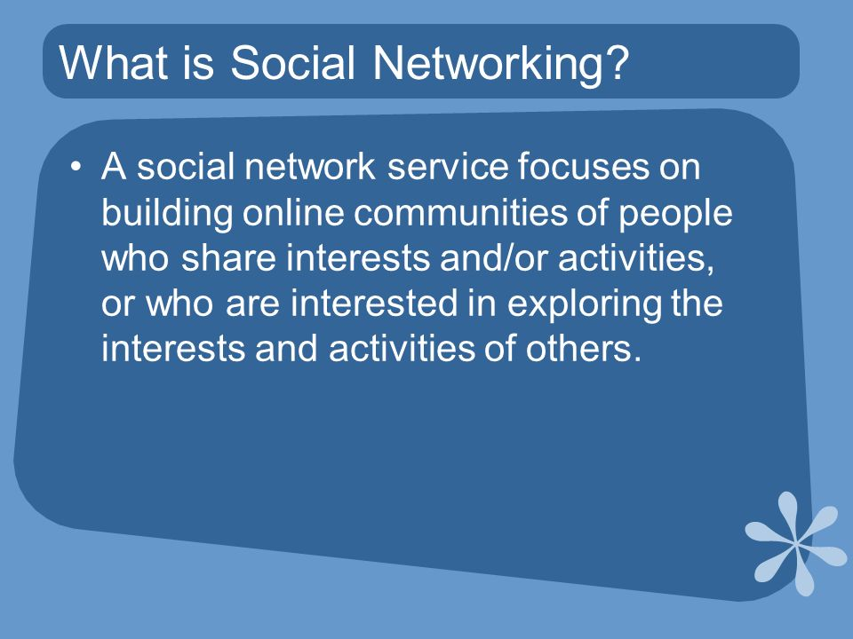 What is Social Networking.