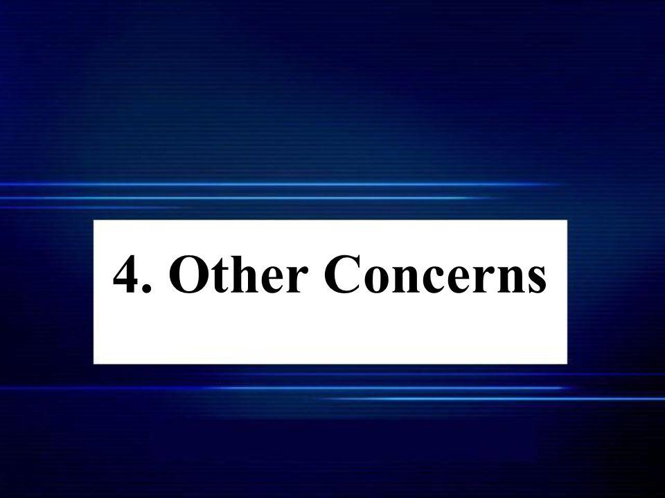 4. Other Concerns