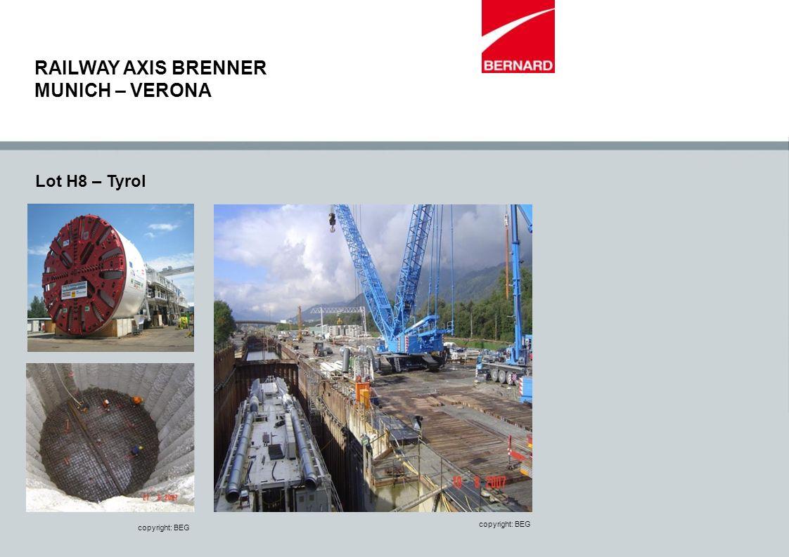 Lot H8 – Tyrol copyright: BEG RAILWAY AXIS BRENNER MUNICH – VERONA