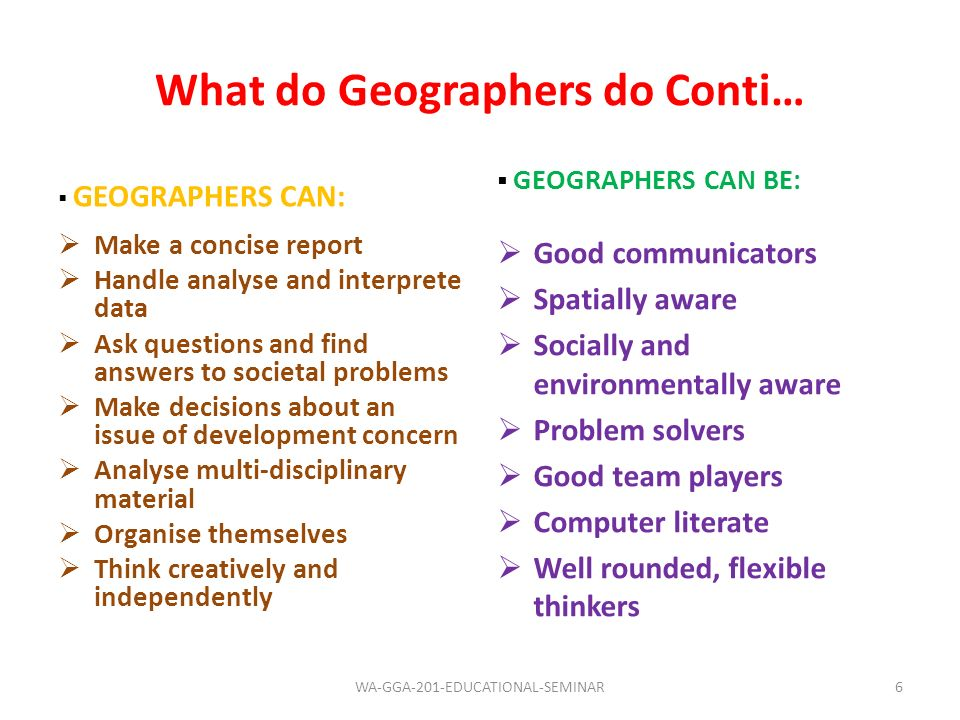 Research Findings & Job Opportunities in Geography Conti… RANKCAREER AREAPERCENT 7Armed Forces1.6 8Librarianship1.2 9Educational Broadcasting & the Publishing Trade 0.8 10Soil and Rural Survey0.8 11Cartography0.4 12Journalism0.4 17WA-GGA-201-EDUCATIONAL-SEMINAR