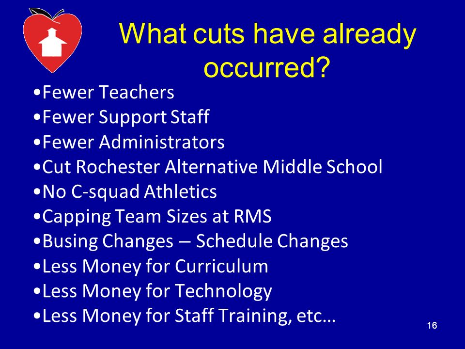 What cuts have already occurred.