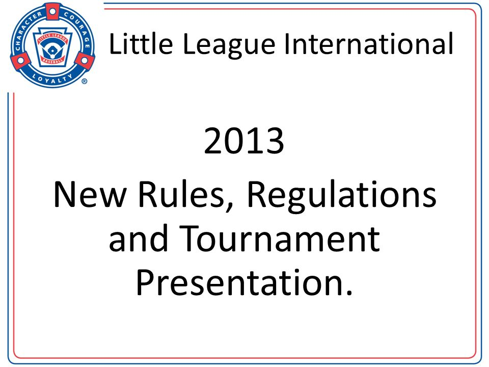 Regulation I (c) (9) BASEBALL/SOFTBALL NOTE 1: Each year, Little League International provides each league 125 free criminal background checks that exceed the minimum standard required in this regulation.