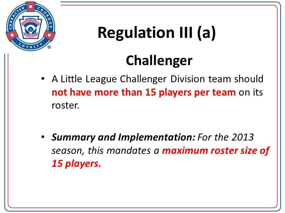 Regulation III (d) BASEBALL/SOFTBALL NOTE 3: If a medical professional, Umpire in Chief, the players coach, the players manager or the players parent has determined a player sustains a possible concussion, the player must be, at a minimum, removed from the game and/or practice for the remainder of that day.
